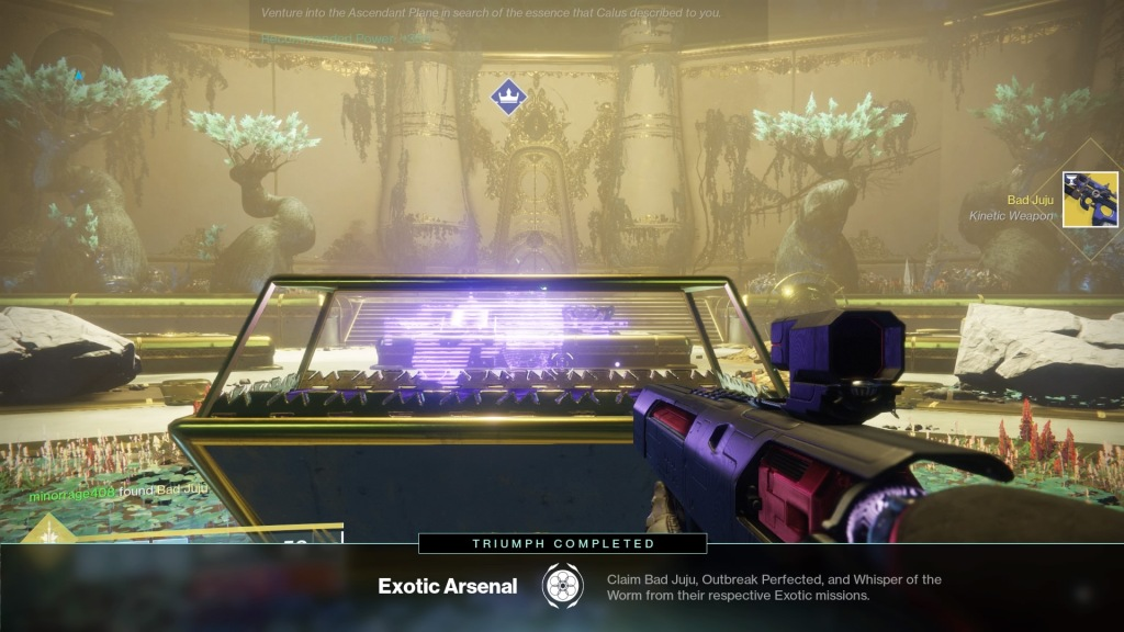 Bad Juju, destiny 2, tribute hall