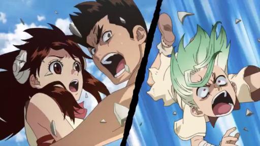 Yuzuriha, Taiju, and Senku, Dr. Stone