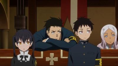 Obi, Tamaki, Shinra, Hibana